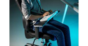 TOPSTAR: Sitness® RS Pro, toetsenbord quasi 'op schoot'